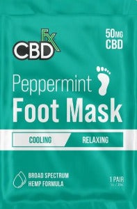 CBDfx Peppermint Foot Mask