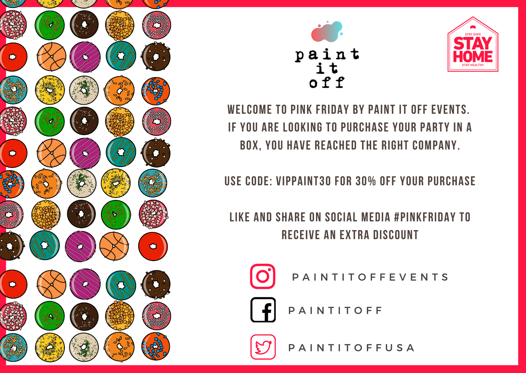 Paint It Off Pink Friday Discount