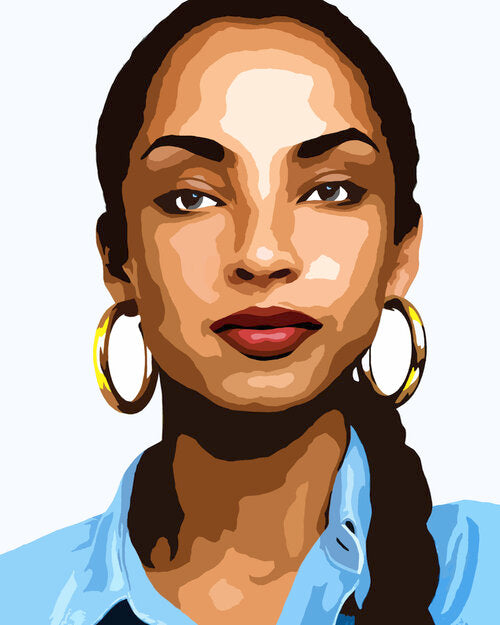 Sade | Paint by Numbers Design - [Paint By Numbers]- Paint It Off by Stella and Bobbie