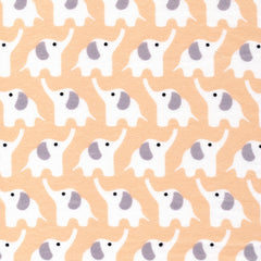 1/2 Yd - Elephants 100% Organic Cotton Flannel