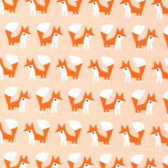 1/2 Yd - Foxes 100% Organic Cotton Flannel