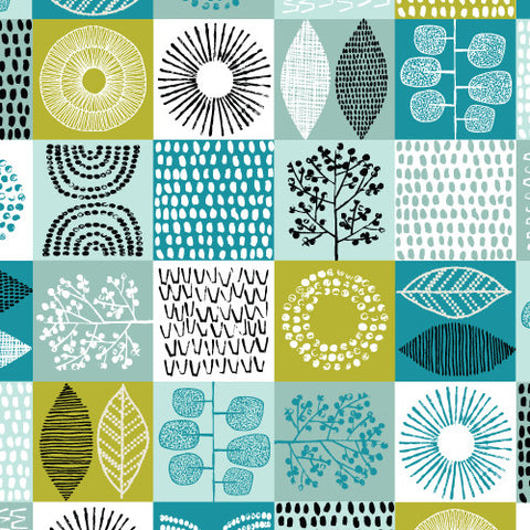 1/2 Yd - Scrapbook 100% Organic Cotton Fabric