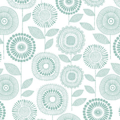1/2 Yd - Petal Print 100% Organic Cotton Fabric