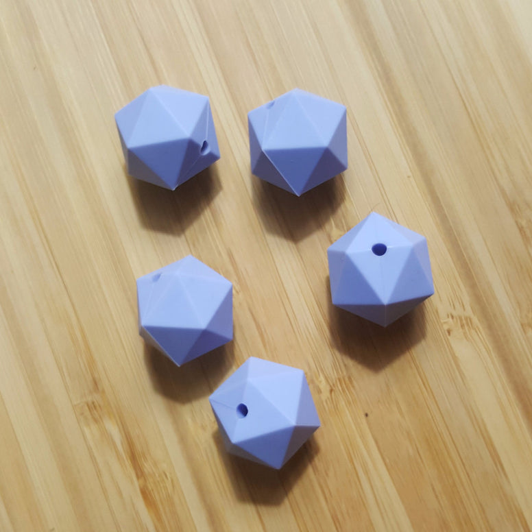 Serenity Silicone Hexagon Beads