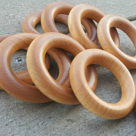 Coconut Oil Maple Hardwood Rings: 2.5 in (USA Grown)