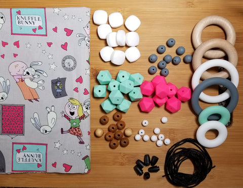 DIY Fabric, Bead, and Ring Kit