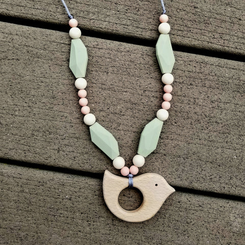 Beech & Silicone Nursing/Teething Necklace