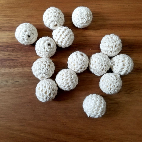 Ivory Crochet Maple Beads