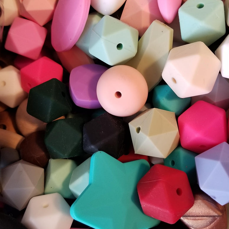 100pc Mixed Silicone Beads