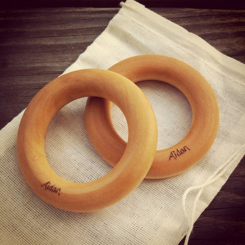 Set of 2 Organic Teething Rings