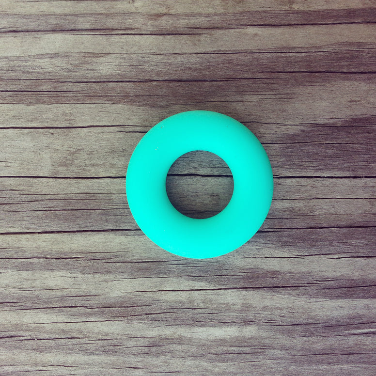 Turquoise Silicone Ring - 43mm