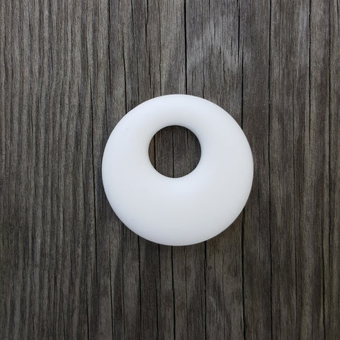 White Silicone Ring Pendant