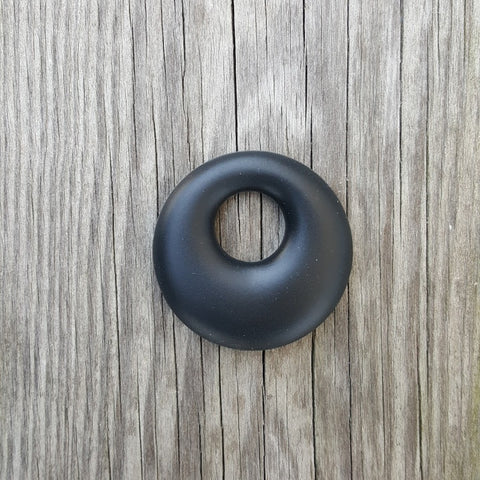 Black Silicone Ring Pendant