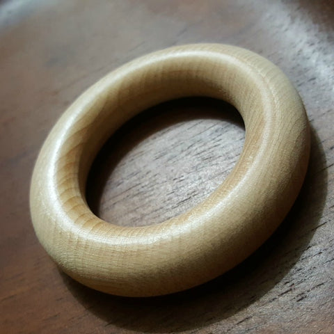 Untreated Maple Hardwood Rings: 3 in (USA Grown)
