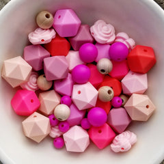 52-Pc Maple & Silicone Mixed Bead Set
