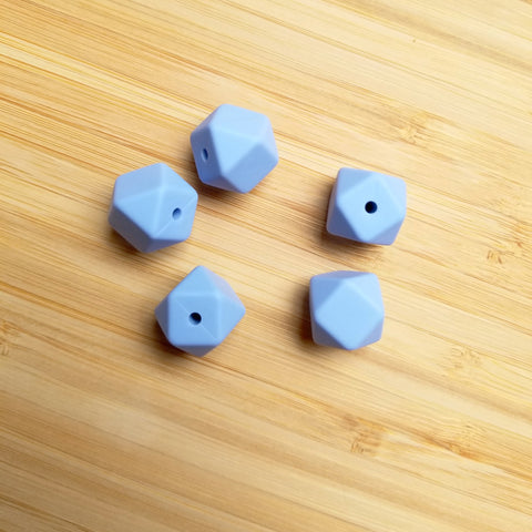 Light Gray Silicone Mini Hexagon Beads