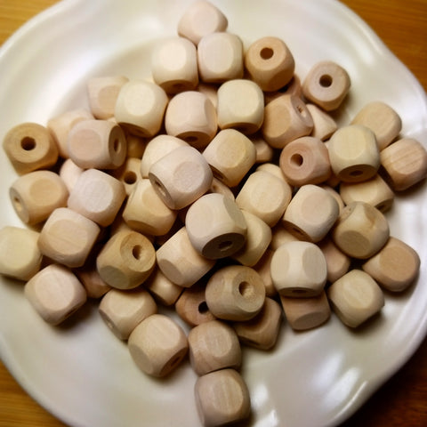 1/2 Inch Square Wooden Bead
