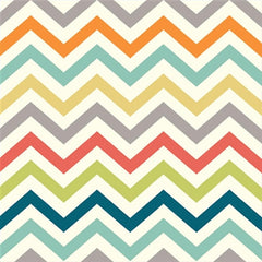 1/2 Yd - Chev Multi 100% Organic Cotton Fabric