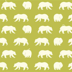 1/2 Yd - Bear Hike Grass 100% Organic Cotton Fabric