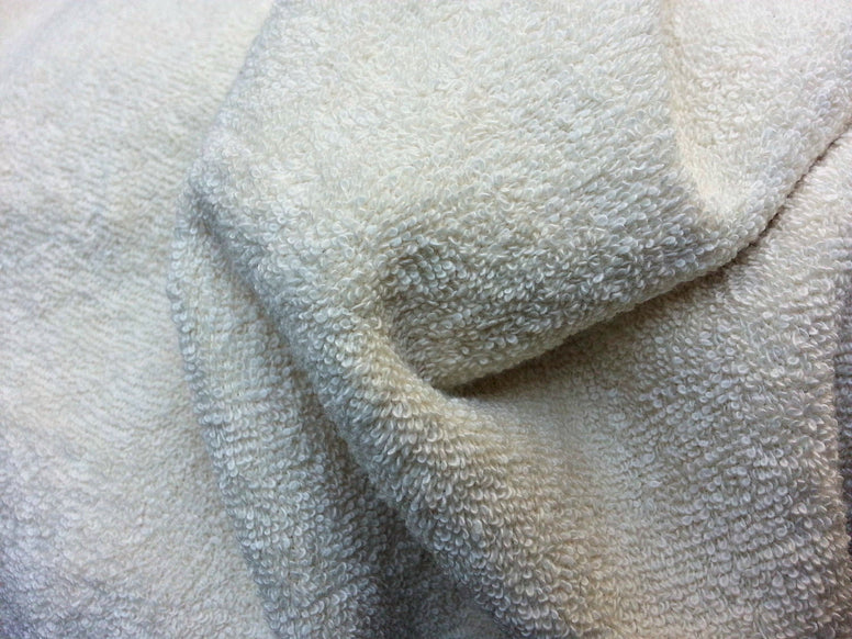 Unbleached Natural Organic Bamboo Double Loop Terry Cloth Fabric
