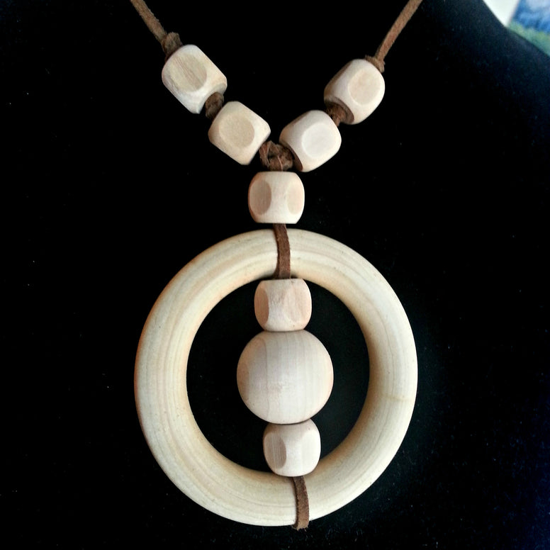 natural maple nursing teething necklace for breastfeeding baby multiple untreated wooden beads