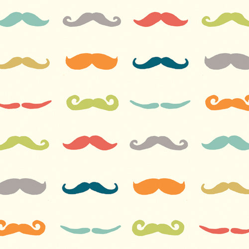 1/2 Yd Staches Multi - 100% Organic Cotton Fabric