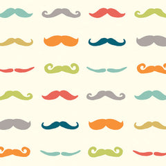 1/2 Yd - Staches Multi 100% Organic Cotton Fabric