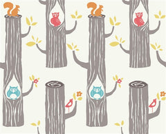 circa 52 monaluna woodland friends organic cotton fabric by the yard