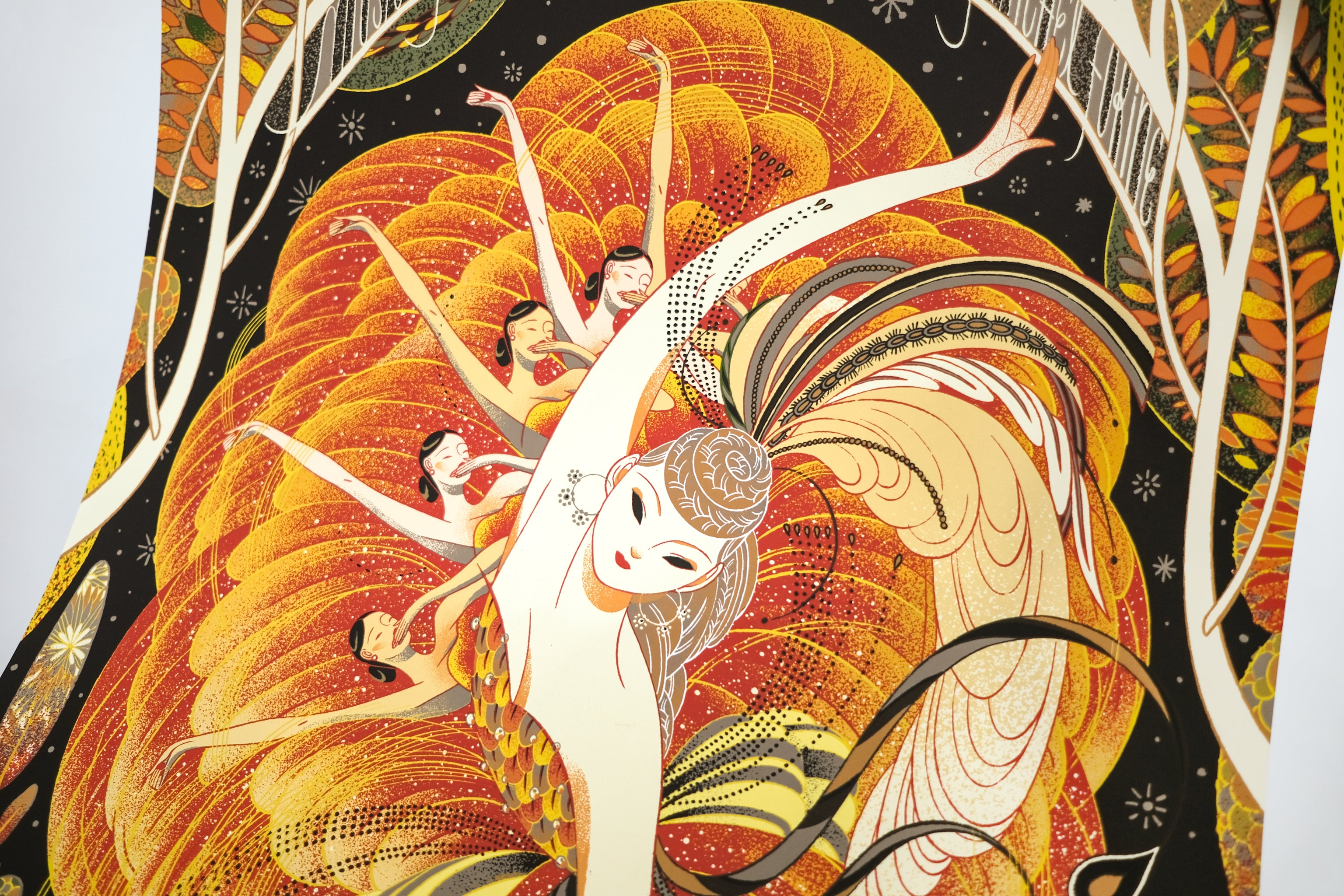Firebird—screen print by Victo Ngai