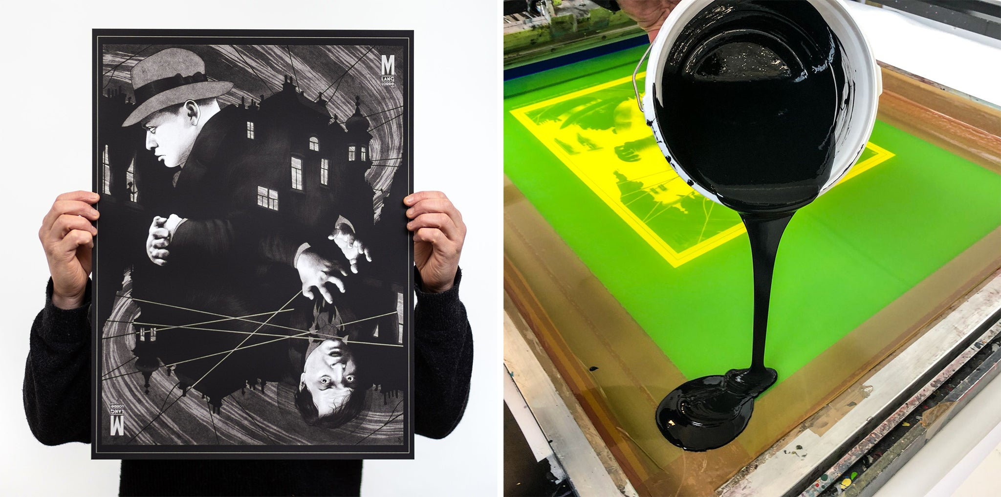 M by Peter Diamond. Screen printed by White Duck Editions