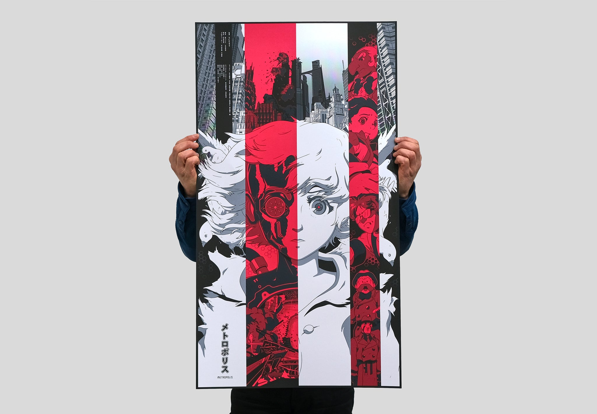 Metropolis poster by Ethan Sharp. Screen printed by White Duck Editions.