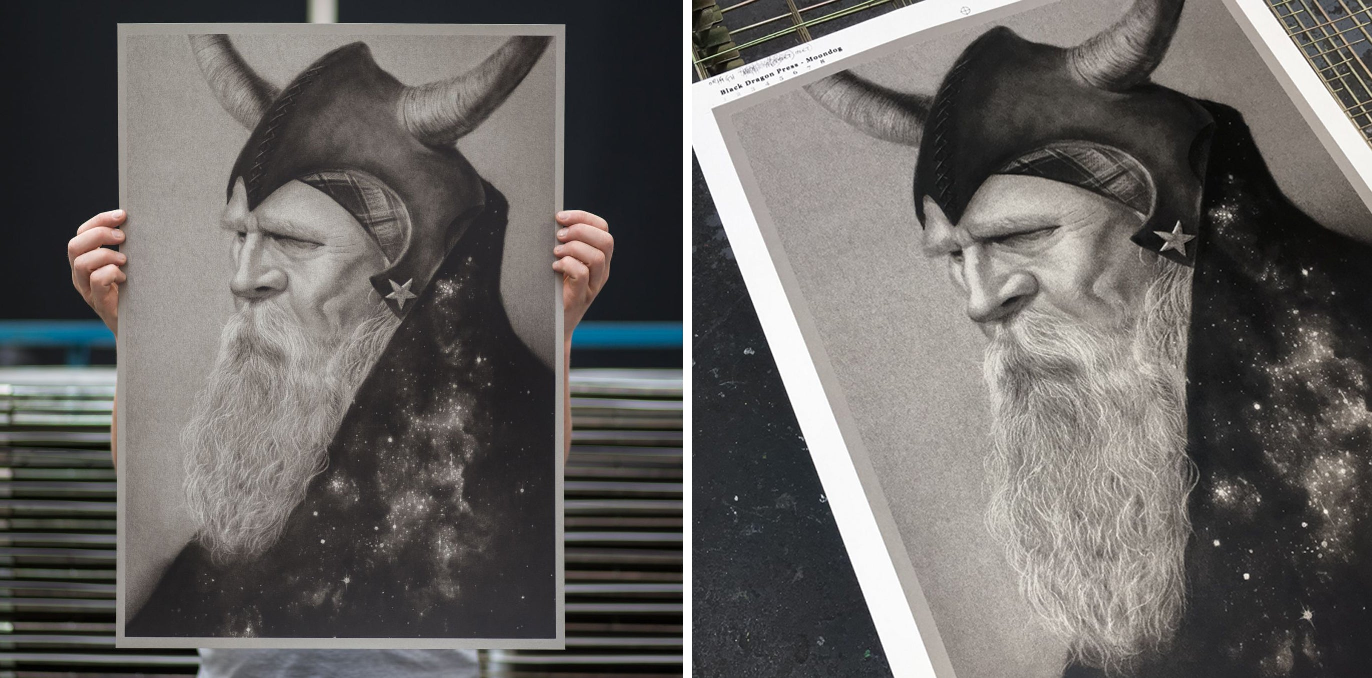 Moondog by Randy Ortiz screen print by White Duck Editions
