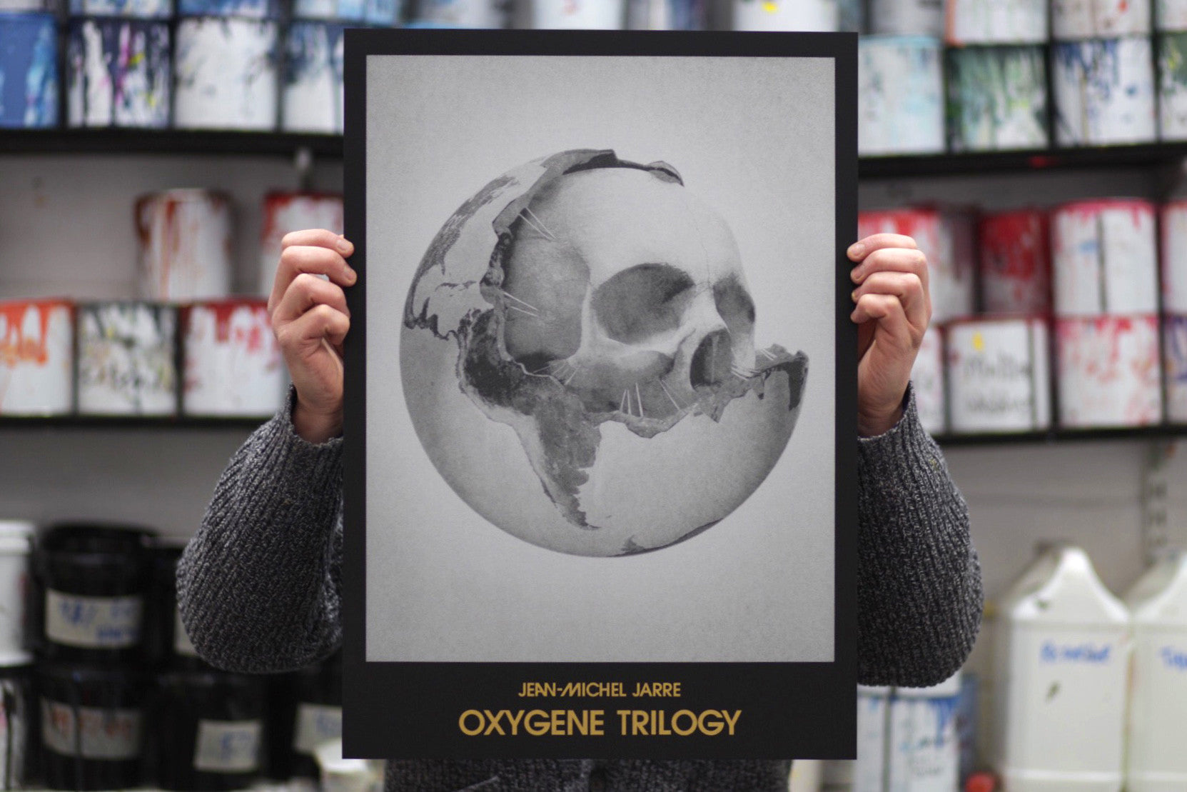 Jean-Michel Jarre — Oxygene Trilogy poster—White Duck Editions