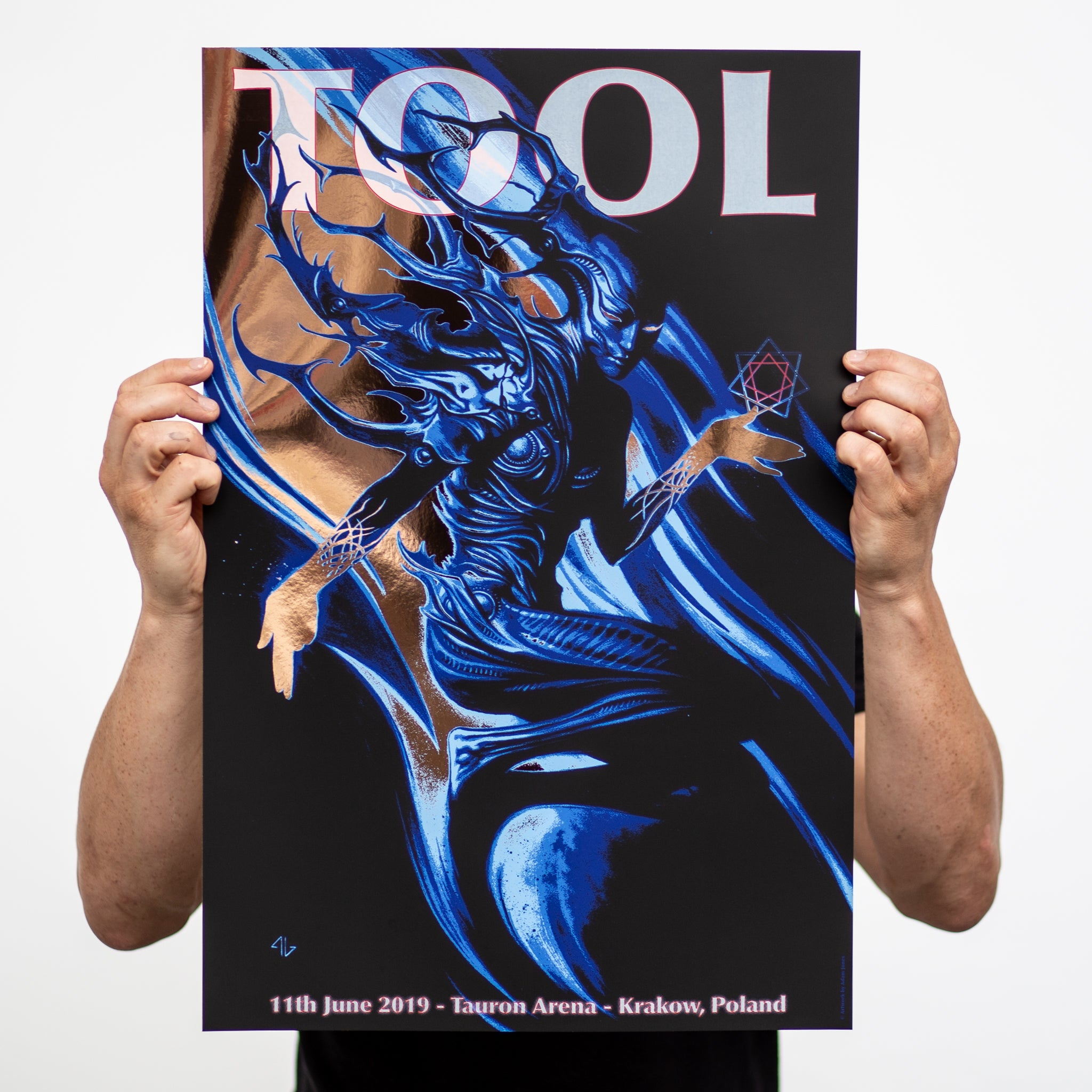 TOOL Screen printed tour poster.