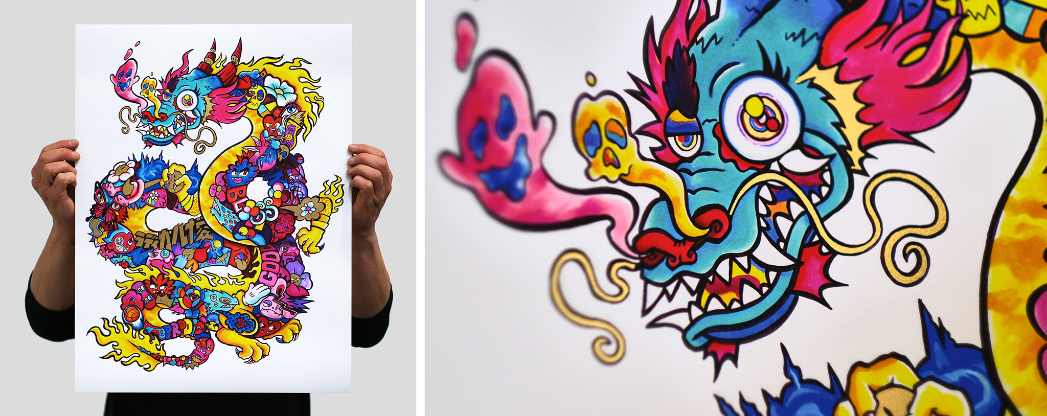 Blending realities, NFT release by VEXX accompanied by screen printed giclee editions by white duck editions