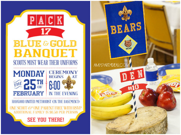Cub scout sledding party invite party invitations ideas for Cub scout blue and gold program template