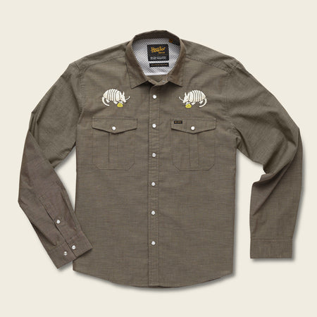 Gaucho Snapshirt - Armadillo & Yellow Rose