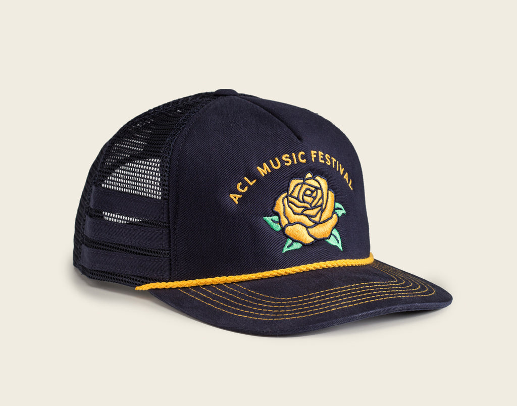 Yellow Rose Navy Snapback