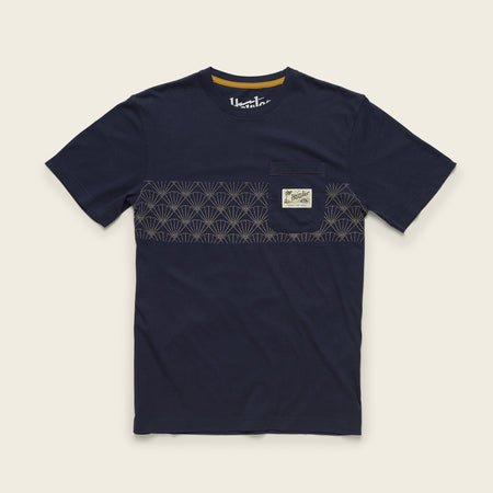 Sashiko Shell Stripe Pocket T