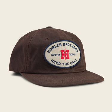 Howler Oval Snapback - Brown Waxed Canvas