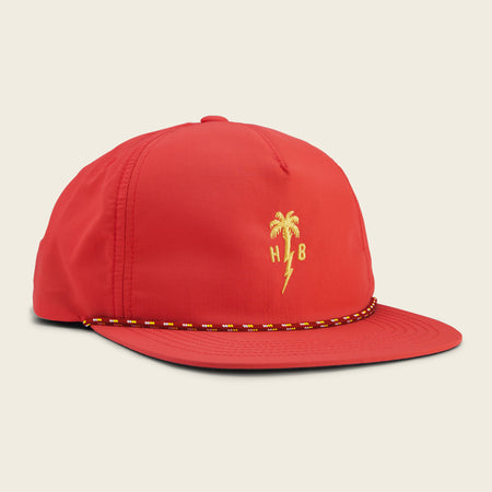 Palm Bolt Snapback - Deep Orange Nylon