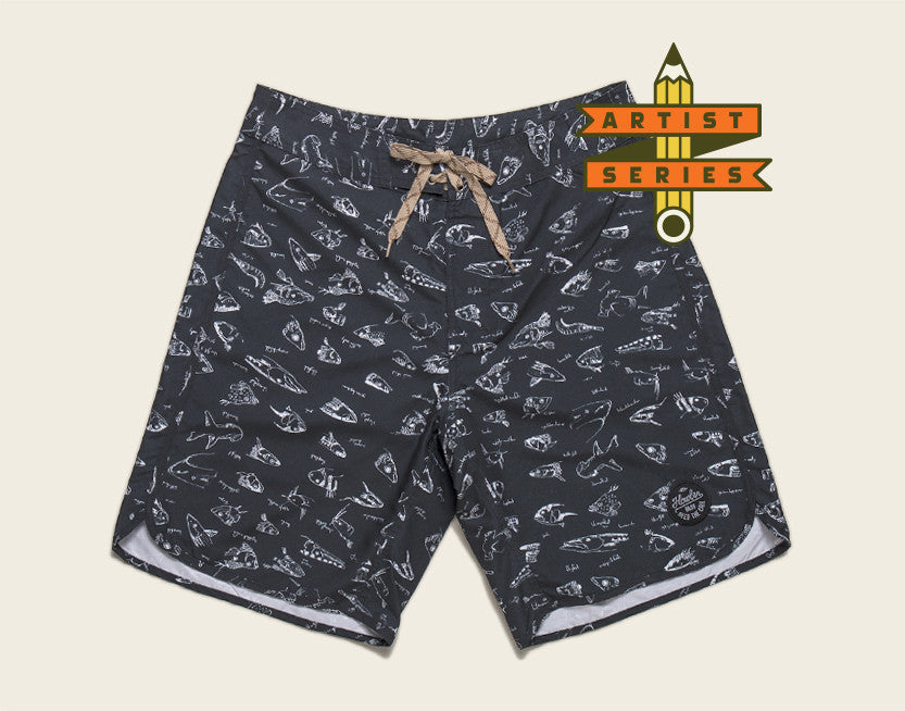 Bruja Boardshorts - Fish Heads