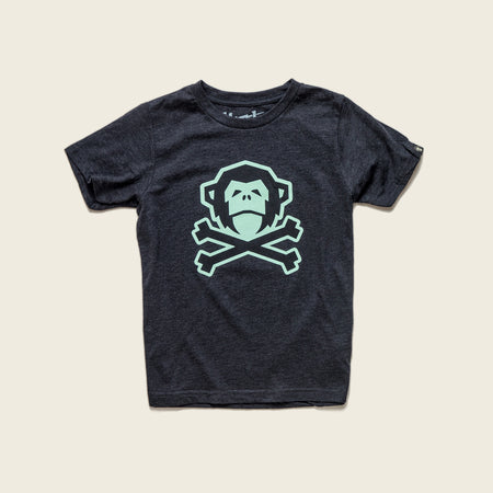 Kid's T-Shirt - Jolly Roger - Charcoal