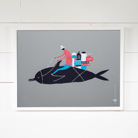 Dolphin Rider Print by Adrian Knotts