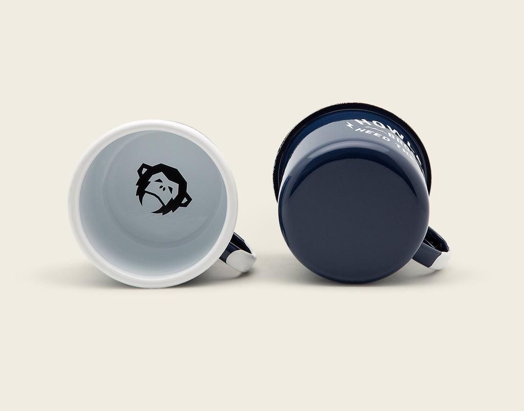 Pair of Camp Mugs - Painted Howler Steel Blue