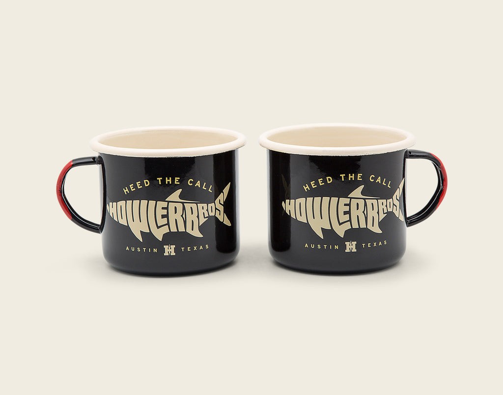 Pair of Camp Mugs - Silver King Black