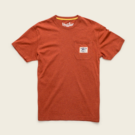 Howler x Helms Workshop T-Shirt - Rusty Red - Texas Bird of Paradise