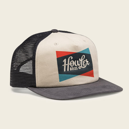 Classic Shapes Snapback - Off White / Navy