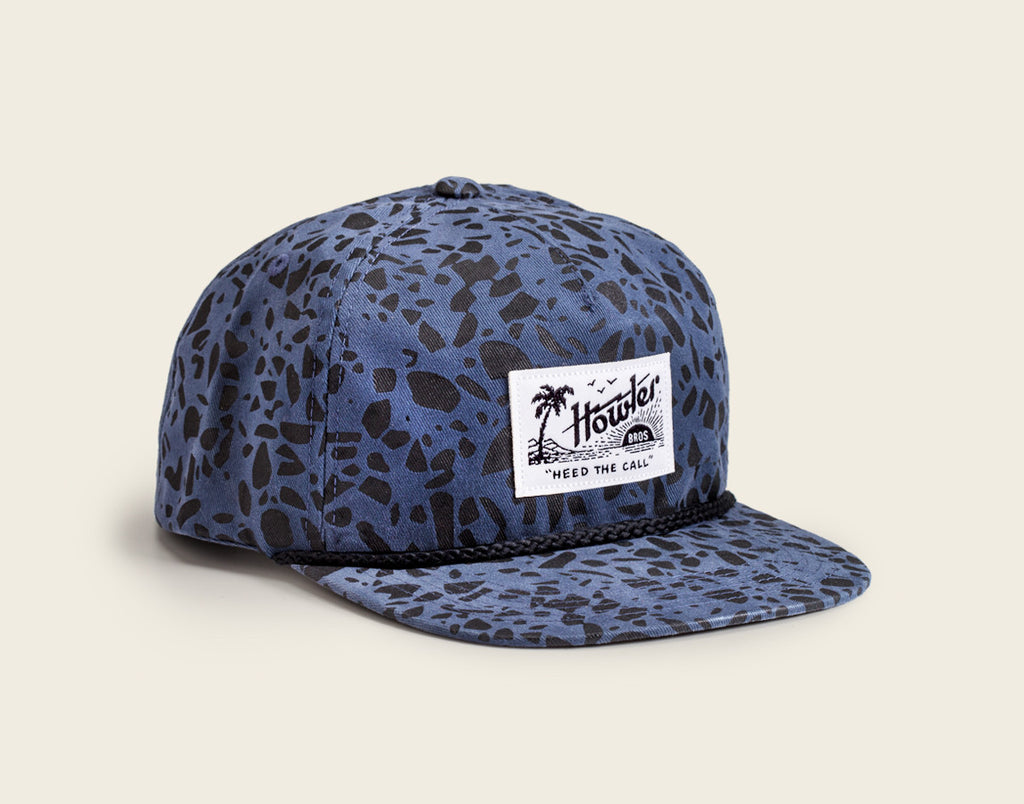 Paradise Snapback Hat - Sea Glass Print