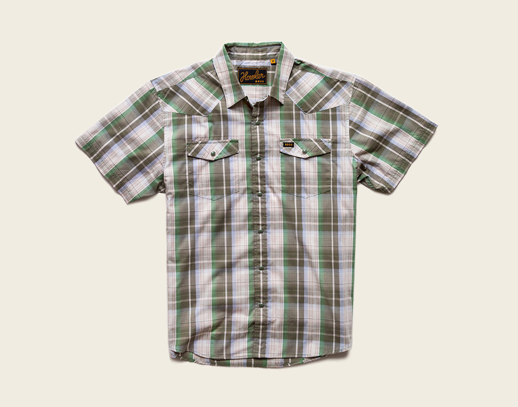 H Bar B Snapshirt - Cosmic Plaid